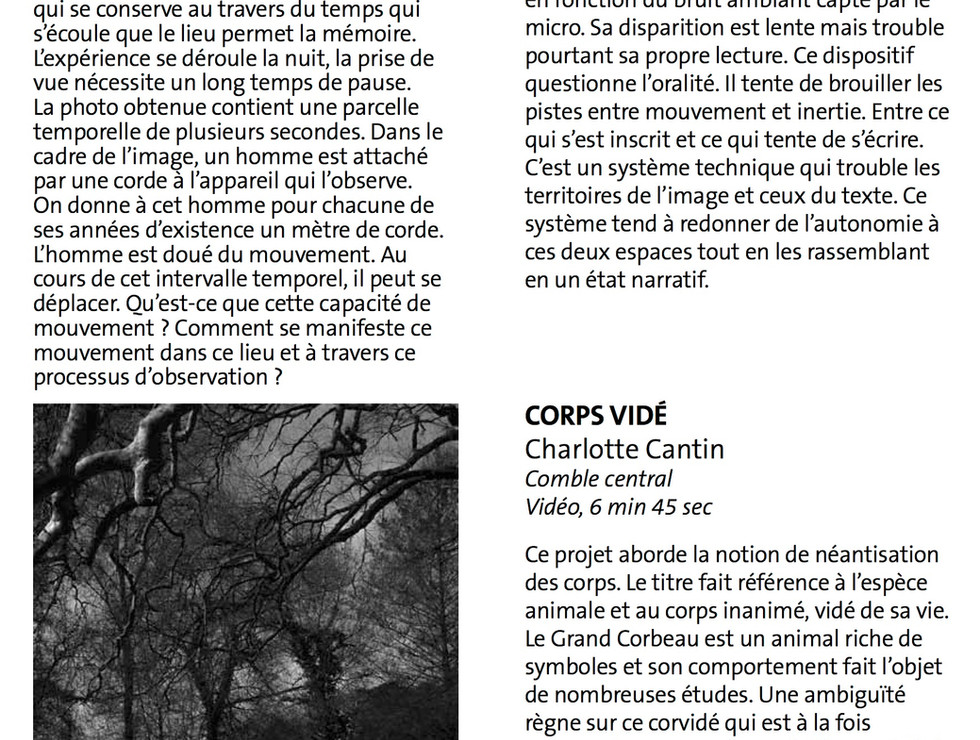 Extrait - Document de visite - Time is out of Joint