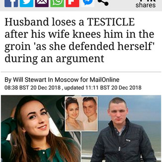 Husband Loses Testicle After Wife Knees Him In Groin During Huge Argument