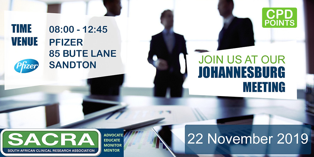 SACRA Johannesburg Meeting: 22 November, 2019.