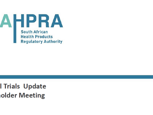 July 1st SAHPRA Stakeholder Workshop Presentations and Documents