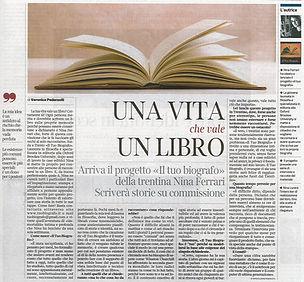 Il Tuo Biografo sul Corriere del Trentino