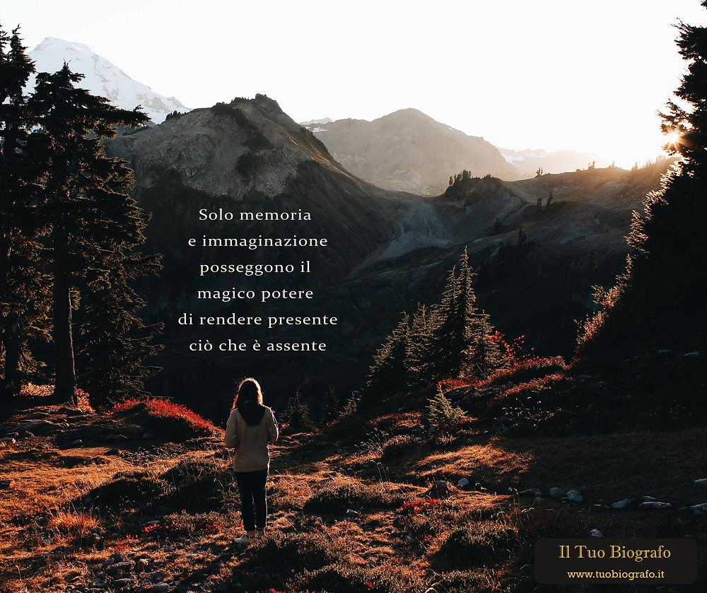 frasi citazione memoria immaginazione potere letteratura Il Tuo Biografo