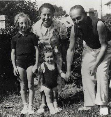 Irène Némirovsky, assieme al marito Michel Epstein e alle due figlie, Denise ed Élisabeth - biografia