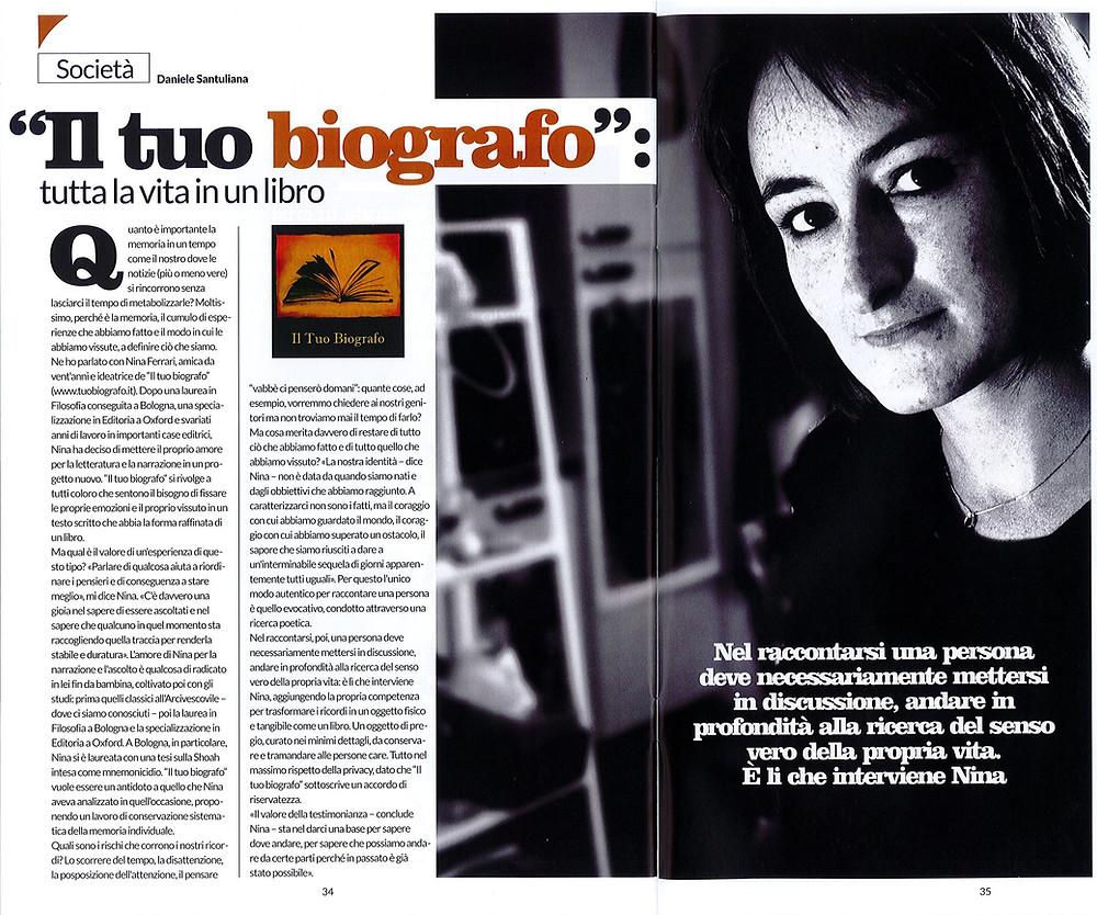 Nina Ferrari - Il Tuo Biografo - scrittura biografica - intervista - biografo