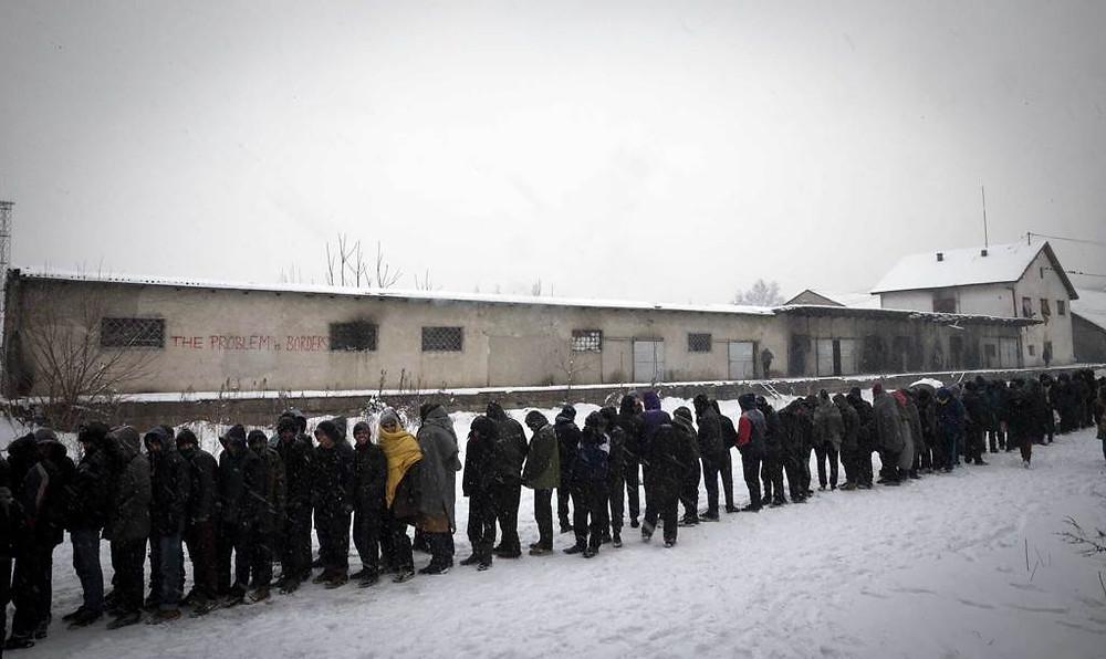 Migranti campo - Serbia, l'11 gennaio 2017 - umanità - Giorno della Memoria