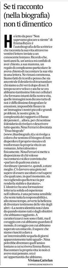 Nina Ferrari - Viviana Cattelan - intervista - Corriere - biografia - Il Tuo Biografo