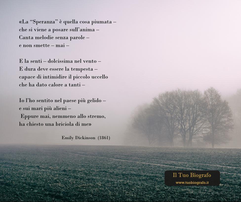 Emily Dickinson - biografia - misero - reclusa - poetica - Il Tuo Biografo