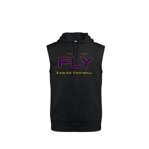 FLY logo Sleeveless Hooded Sweatshirt
