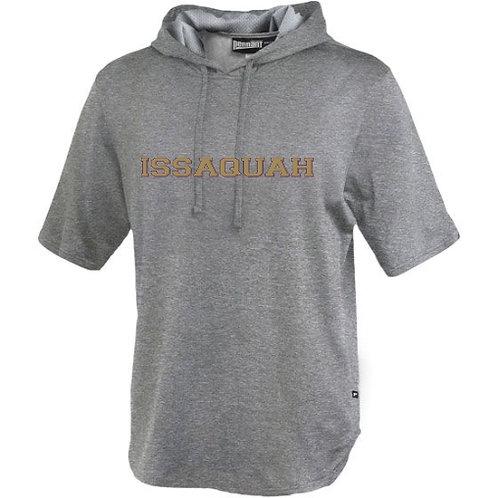 Men's Performance Fleece Short Sleeve Hoody w/ gold Issaquah Logo