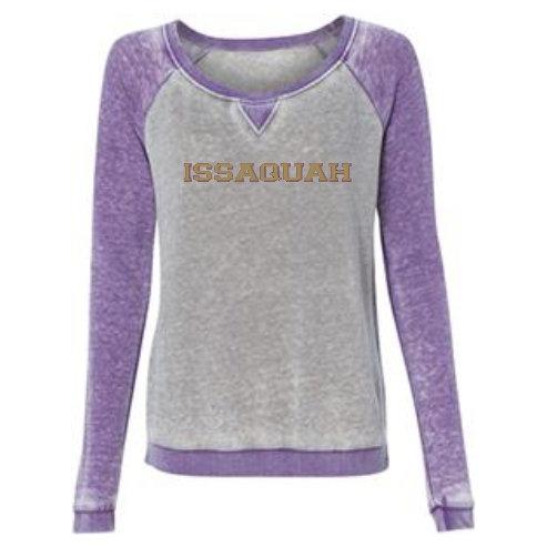 Women's Zen Contrast Crew Sweatshirt w/ gold Issaquah logo