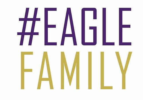 #EagleFamily Car Sticker