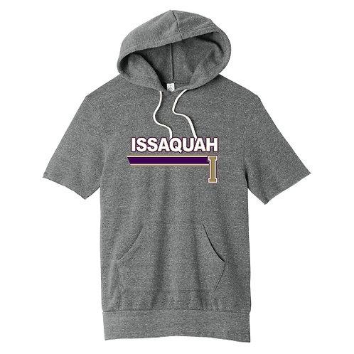 Cozy Fleece short sleeve hoody w/ stripe logo