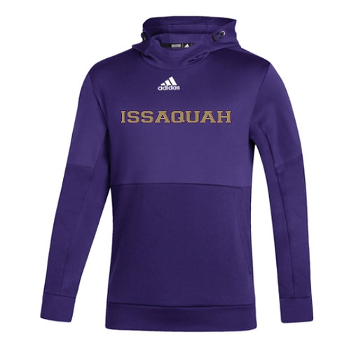 PERSONALIZED  Adidas Team Issue Hooded Pullover w/ gold Issaquah logo