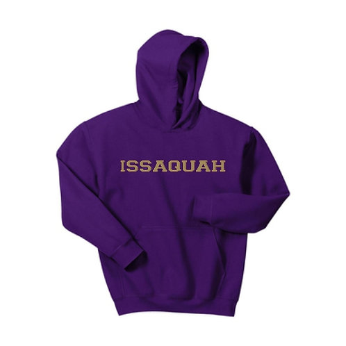Youth Cotton blend Hooded sweatshirt w/ gold Issaquah logo
