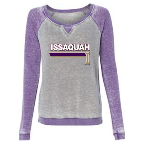 Women's Zen Contrast Crew Sweatshirt w/ Issaquah Stripe logo