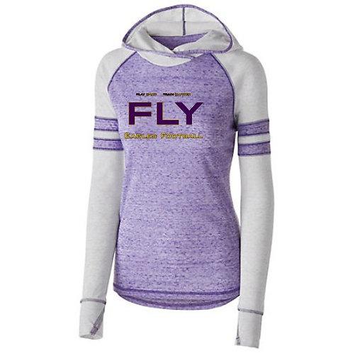 FLY logo Women's Hooded Vintage T-Shirt