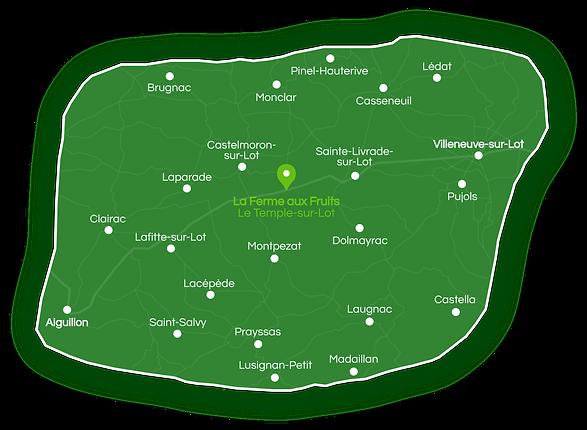 Vente et livraison à domicile de fruits et légumes en Lot-et-Garonne | La Ferme aux Fruits à Le Temple-sur-Lot