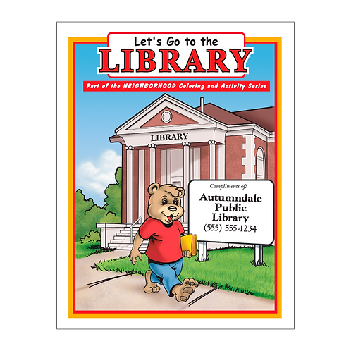 Library Coloring Book