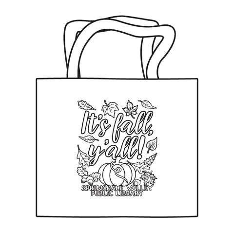 Coloring Tote - It's Fall Y'all!