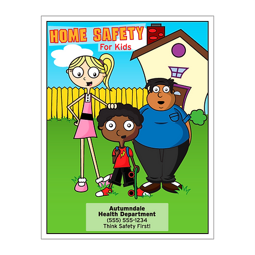 Kids Home Safety Coloring Book