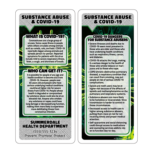 Substance Abuse & Covid-19 Q&A Rack Cards
