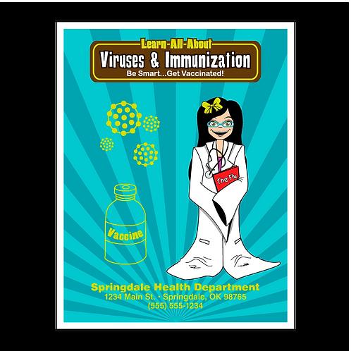 Virus and Immunization Coloring Book