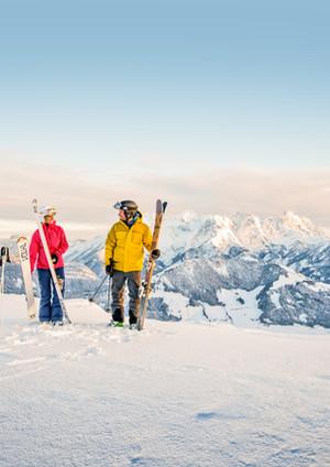 Perfekte Pisten in den Skigebieten der Region.