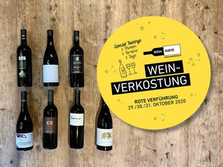 29./30./31. Oktober 2020 – Weinverkostung Spezial