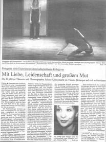 """Süddeutsche Zeitung """"Zwischen zwei Stühlen"""" 10/02"""
