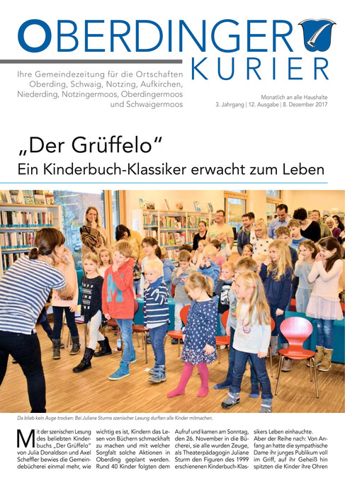 "Oberdinger Kurier ""Grüffelo"" 12/17"