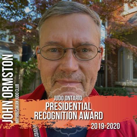 John Ormston  - Presidential Recognition
