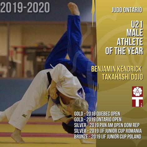Benjamin Kendrick - U21 Male Athlete of  the Year