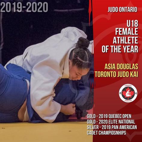 Asia Douglas - U18 Female Athlete of the Year