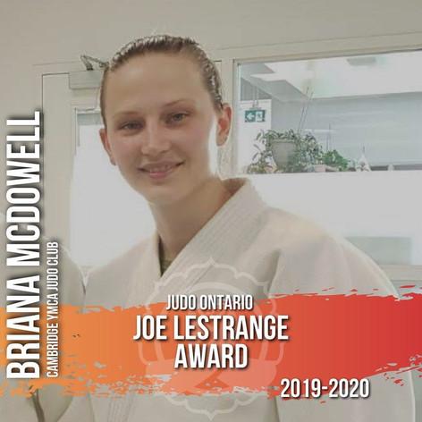 Briana McDowell - Joe LeStrange Award