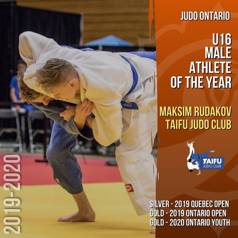 Maksim Rudakov - U16 Male Athlete of the Year