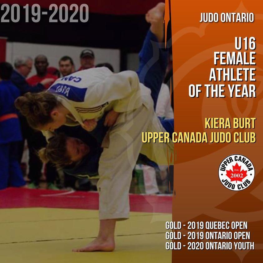 Kiera Burt - U16 Female Athlete of the Year