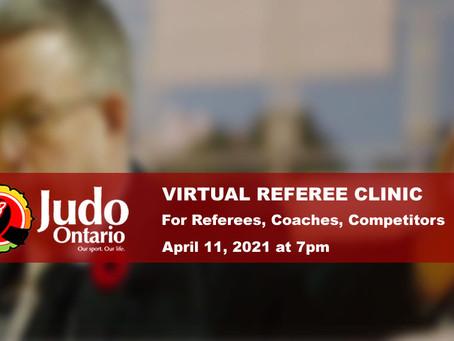 Virtual Referee Clinic - Apr 11