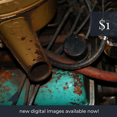 Digital Web Graphic | Car Engine (under the hood) #2 | Photography