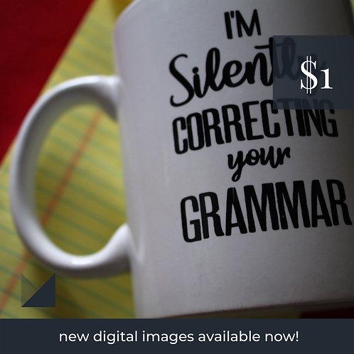 Digital Web Graphic | Writer's Mug (Red) | Photography