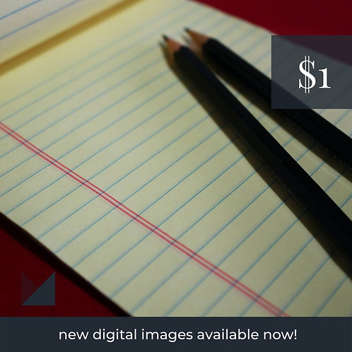 Digital Web Graphic | Pencil with Yellow Notepad | Photography
