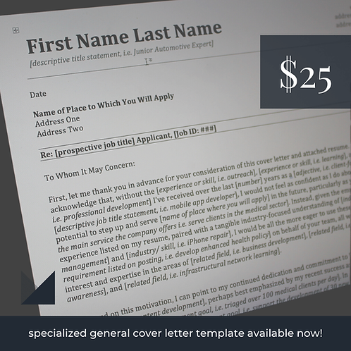 General Cover Letter Template #2   Fillable Employment Cover Letter