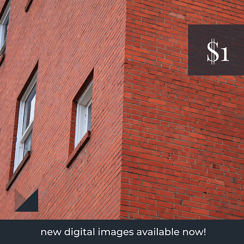 Digital Web Graphic   Brick Wall with Windows (off-center)   Photography