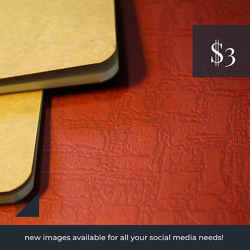 Digital Web Graphic Pack | Brown Notebooks on Red Backdrop | Photography