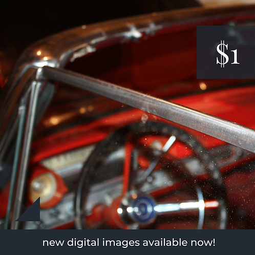 Digital Web Graphic | Red Parked Car (Vintage) | Photography