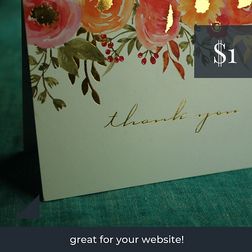 Digital Web Graphic | Thank You Card #1 | Photography