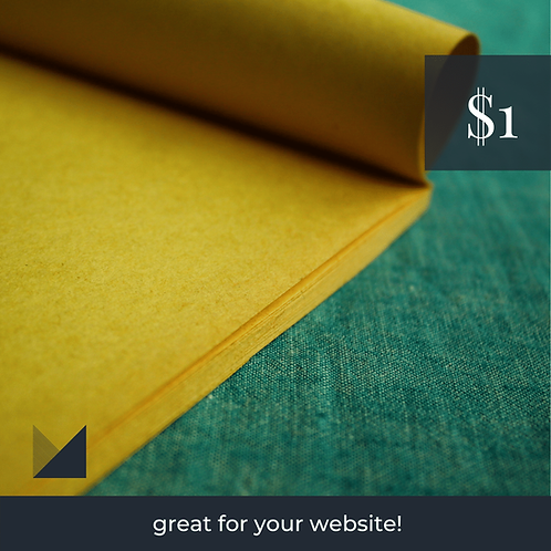 Digital Web Graphic | Yellow Paper on Turquoise Background | Photography