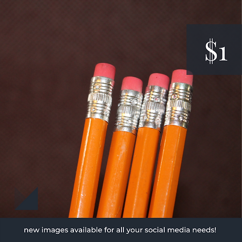 Digital Web Graphic | HB Pencils on Textured Dark Backdrop | Photography