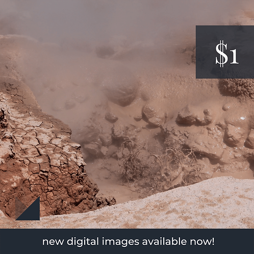 Digital Web Graphic   Clay Mud Bubbling   Photography