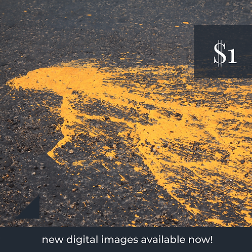 Digital Web Graphic | Paint Splatter on Road (Yellow) | Photography