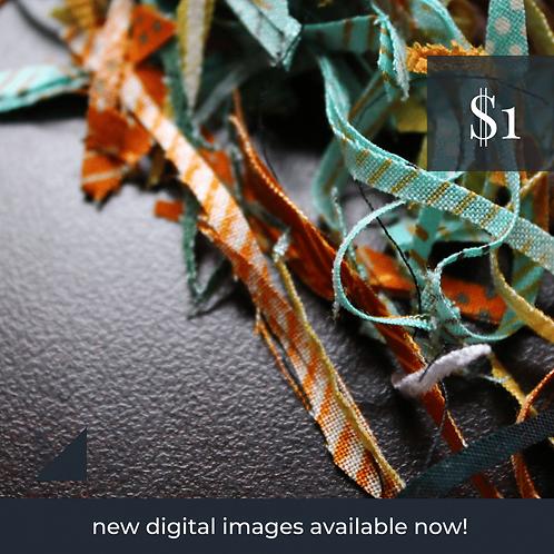 Digital Web Graphic   Fabric Strips on Dark Backdrop   Photography